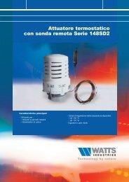 Attuatore termostatico con sonda remota Serie ... - WATTS industries
