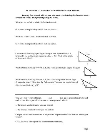 Unit 4 CP Worksheet 4 – Vector Addition