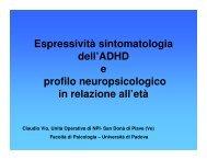 Espressività sintomatologia dell'ADHD e profilo ... - Aidai