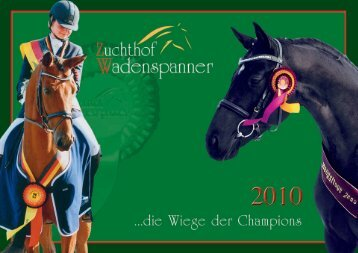 Hengstkatalog 2010 - Zuchthof Wadenspanner