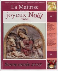 bulletin de noel2006 - Les Maitrisiens