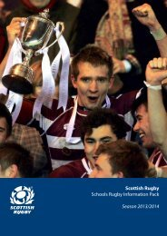 Schools rugby information pack - Scottish Rugby Union