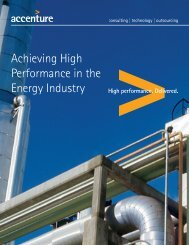 Achieving High Performance in the Energy Industry