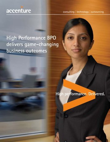 High Performance BPO delivers game-changing business outcomes