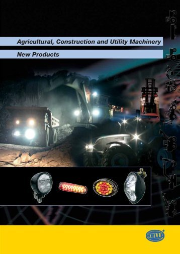 Agricultural, Construction and Utility Machinery New Products - Hella