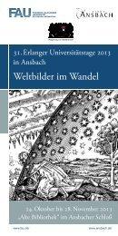 Weltbilder im Wandel - Blogdienst der Universität Erlangen-Nürnberg