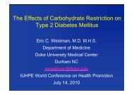 The Effects of Carbohydrate Restriction on Type 2 Diabetes Mellitus