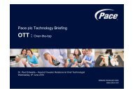 Pace plc Technology Briefing - Over-the-Top