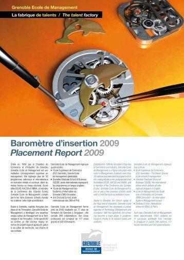 Télécharger la version 2009 - Grenoble Ecole de Management