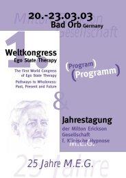 Milton Erickson Gesellschaft - MEG Jahrestagung 2014
