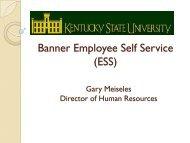 Banner Employee Self Service (ESS)