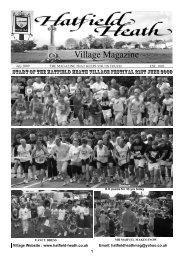 July2009 Edition - Hatfield Heath Village Magazine