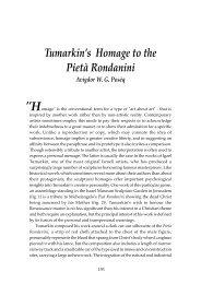 Tumarkin's Homage to the Pietà Rondanini Avigdor WG Posèq