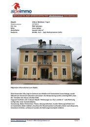 www.alpeimmo.at, E-mail: office@alpeimmo.at Objekt: Villa in ...