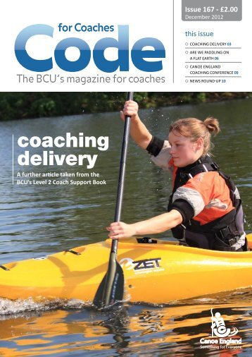 coaching delivery - British Canoe Union