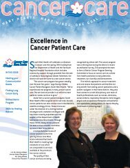 Excellence in Cancer Patient Care - Cancer Care Nova Scotia
