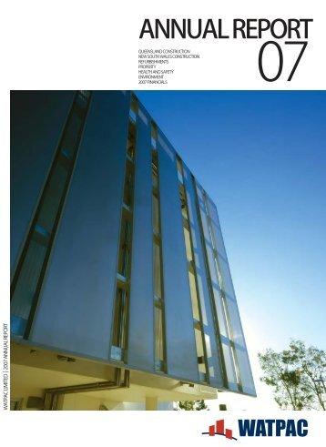30 June 2007 Annual Report - Watpac