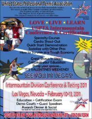 Download Flyer - USPTA Intermountain Tennis