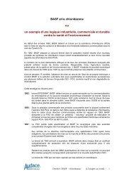 BASF et le chloridazone ou un exemple d'une logique industrielle ...