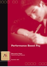 Performance Based Pay Discussion Paper - Association of ...