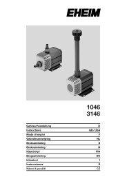 Gebrauchsanleitung D Instructions GB / USA Mode d'emploi F - Eheim