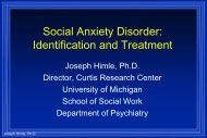 cognitive behavioral therapy - University of Michigan Depression ...