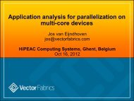 Application analysis for parallelization on multi-core devices