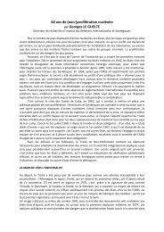 60 ans de (non-)prolifération nucléaire par Georges LE ... - Sfen