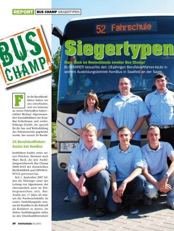 Siegertypen - Werd Busfahrer