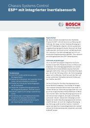 Datenblatt ESP® mit integrierter Inertialsensorik - Bosch Automotive ...