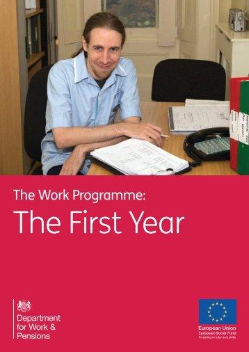work-programme-first-year