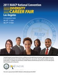 2011 NAACP National Convention Diversity Career Fair ...