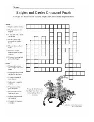 Knights and Castles Crossword Puzzle - Magic Tree House