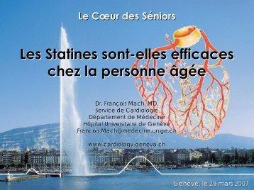 Les Statines sont-elles efficaces chez la personne âgée