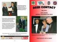 May Contact 2013 - Lions Clubs New Zealand