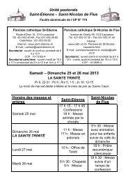 Saint-Nicolas de Flue Samedi – Dimanche 25 et 26 mai ... - Cath-vd.ch