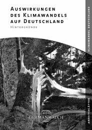 Arbeitsblaetter: Auswirkungen des Klimawandels auf Deutschland