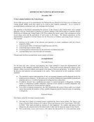 Report of the National Review Board - United States Conference of ...