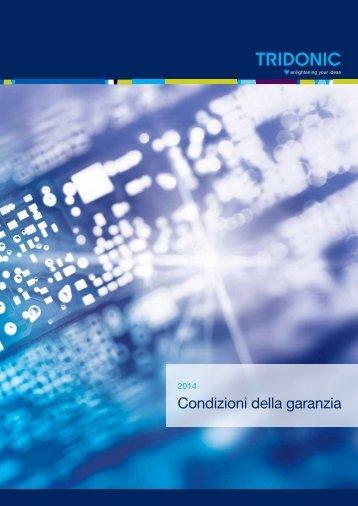 Condizioni della garanzia 2013 - Tridonic