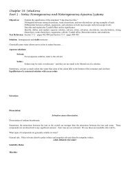 Notes - Honors Chemistry Coursework