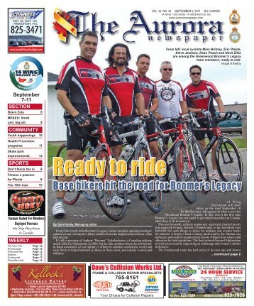 Sep 5 2011 - The Aurora Newspaper