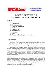 DISEÑO FUENTES DE ALIMENTACIÓN LINEALES
