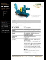4B Series - Wastecorp Pumps