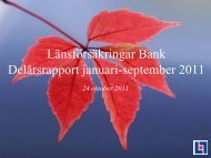 30 september 2011 - Länsförsäkringar