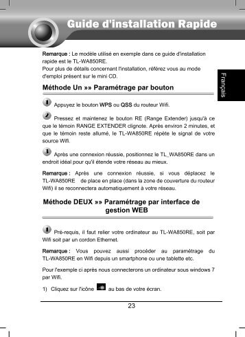 tl-wa850re qig pdf french - TP-Link