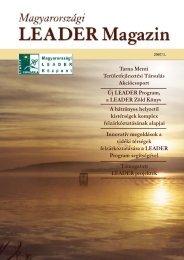 LEADER Magazin5. - Magyar Nemzeti Vidéki Hálózat