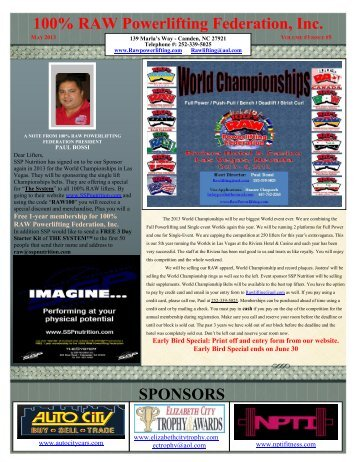 2013 May Newsletter - Raw Powerlifting