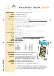 Rat und Hilfe in Karlsruhe Ausgabe 2010