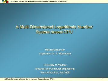 A Multi-Dimensional Logarithmic Number System based CPU A ...