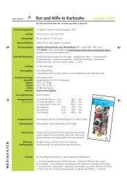 Rat und Hilfe in Karlsruhe Ausgabe 2012